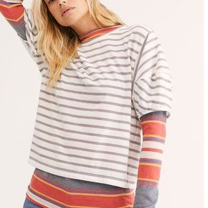 Free People Sure Enough Tee NWOT - Size Small